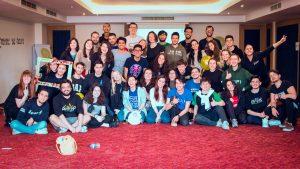 Vário membros da AIESEC em evento interno